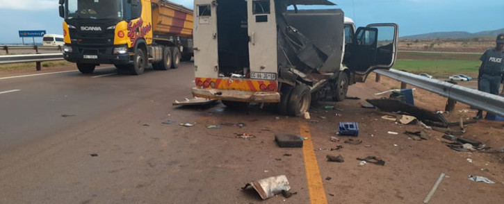 The scene of a cash-in-transit heist near Diepsloot on 18 November 2019. Picture: Supplied