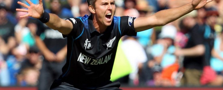 FILE: New Zealand's Trent Boult celebrates after taking a wicket against Scotland in the ICC Cricket World Cup ODI Test match on 17 February 2015. Picture: CWC website.