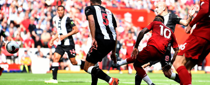 Liverpool's Sadio Mane (10) scores a goal against Newcastle United during their English Premier League match at Anfield, Liverpool on 14 September 2019. Picture: @LFC/Twitter