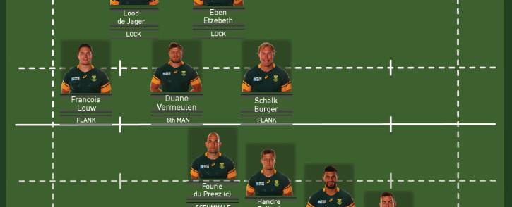 Bok team to face NZ