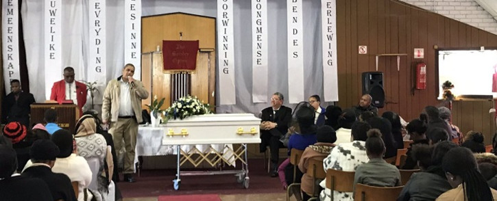 Ashwin Jones is laid to rest on 15 June 2019. Picture: Kevin Brandt/EWN.
