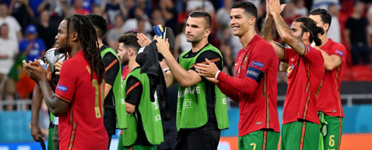 Portugal players applaud the crowd after their Euro 2020 match against France on 23 June 2021. Picture: @EURO2020/Twitter