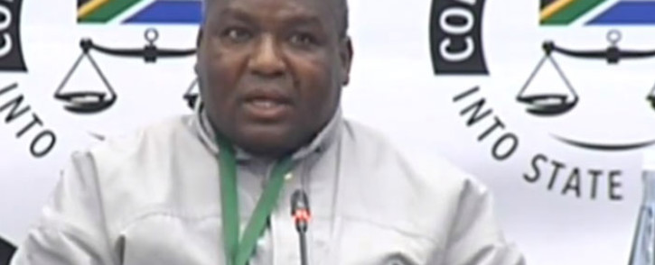 A screengrab of former Democratic Alliance councillor of Phumelele Municipality in Vrede Mr Doctor Radebe giving evidence at the state capture inquiry on 25 July 2019.