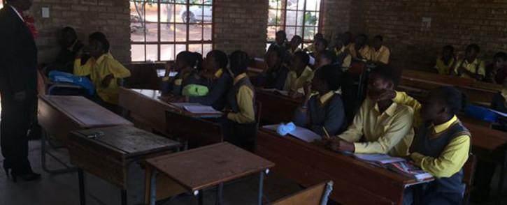 FILE: A principal of a school in Vuwani addressing matric students. Picture: EWN.