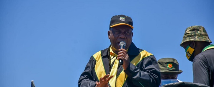 Ramaphosa is set to conclude his two-day free state campaign trail in Welkom later on Monday. Picture: MyANC/Twitter