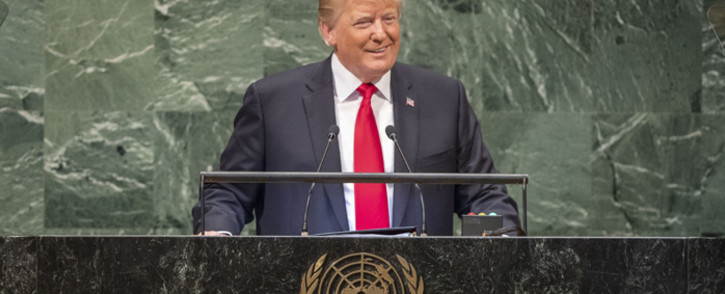 US President Donald Trump addresses the general debate of the General Assembly's seventy-third session. Picture: United Nations Photo