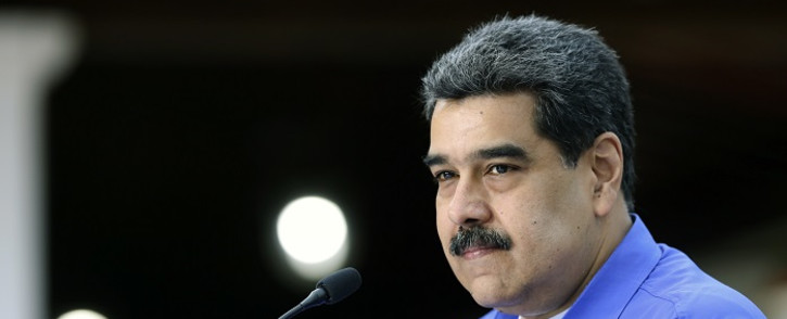 File photo taken on 22 June 2020 and released by the Venezuelan Presidency showing Venezuela's President Nicolas Maduro speaking during a televised message, at the Miraflores Presidential Palace in Caracas. Picture: AFP