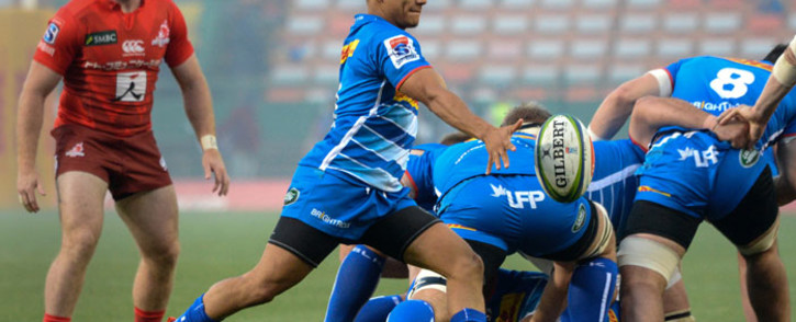 FILE: Stormers scrum half Herschel Jantjies clears the ball during the Super Rugby match against the Sunwolves at Newlands Stadium in Cape Town on 8 June 2019. Picture: AFP