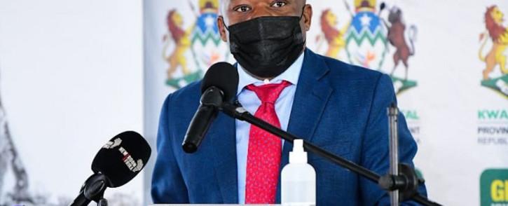 KwaZulu-Natal Premier Sihle Zikalala at the Vula Fund handover on 22 June 2021. Picture: KZN Government.