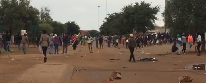 Bekkersdal residents in the West Rand took to the streets on 10 April 2019 to call for electricity, water, adequate sewerage and school maintenance in the area. Picture: EWN