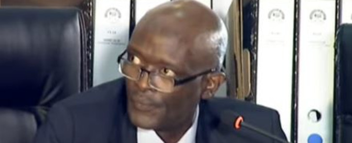 Free State local government and housing Chief Director Kaizer Maxatshwa at the State Capture Commission on Wednesday. 23 September 2020. Picture: YoutTube Screengrab