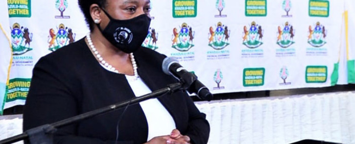 FILE: KwaZulu-Natal Finance MEC Nomusa Dube-Ncube gave the provincial budget speech for the 2021–2022 financial year on 9 March 2020. Picture: @kzngov/Twitter