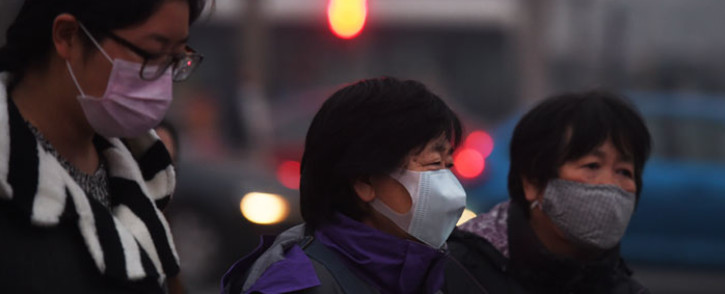 The Beijing environment bureau said the red alert would last from 7am Saturday to midnight on Tuesday. Picture: Greg Baker/AFP.