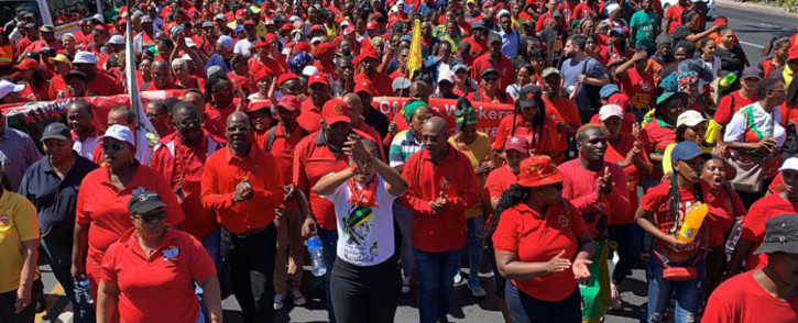 FILE: Cosatu members march in Cape Town. Picture: Kaylynn Palm/EWN