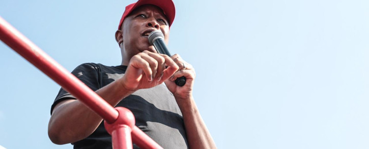 EFF leader Julius Malema on the campaign trail ahead of the 1 November municipal elections. Picture: Abigail Javier/Eyewitness News