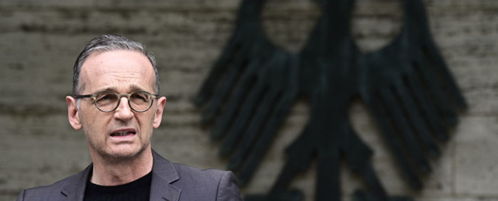 German Foreign Minister Heiko Maas at a press conference on 28 May 2021 in Berlin, announcing for the first time that Germany recognised it had committed genocide in Namibia during its colonial occupation. Picture: Tobias SCHWARZ/POOL/AFP