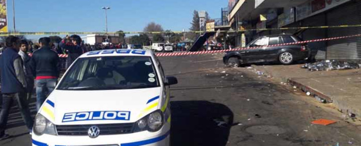 A motorist reportedly ploughed into a group of men in Randburg, killing four. Picture: Kgothatso Mogale/EWN.