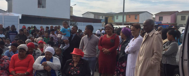 FILE: Leonsdale community members at a memorial service for victims of a shooting incident. Picture: Kevin Brandt/Eyewitness News