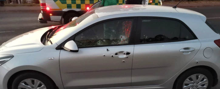 Two Metro Police members have been gunned down in Hammarsdale, KwaZulu-Natal. Picture: @TrafficRTMC/Twitter.