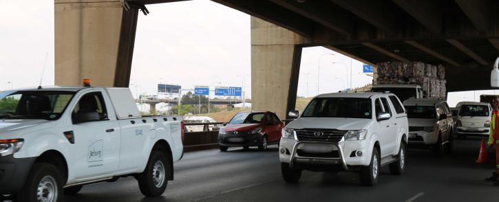 The double decker bridge on the M1 freeway. Picture: Christa Eybers/EWN.