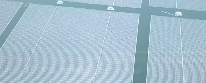 A screengrab of the solar farm.