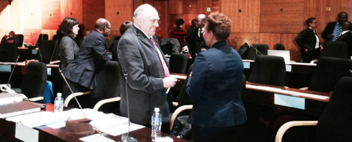 Ronnie Kasrils at the Seriti Commission of Inquiry on 6 June, 2014. Picture: Sebabatso Mosamo/EWN.
