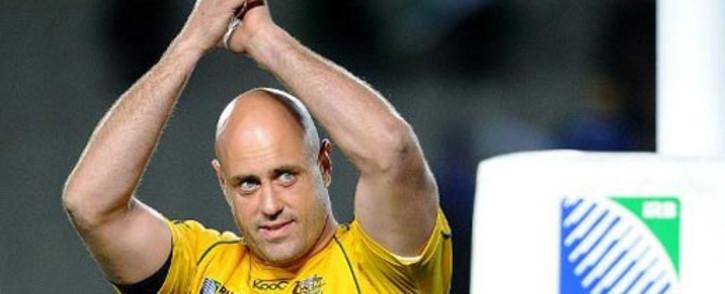Australia's veteran lock Nathan Sharpe. Picture: AFP.