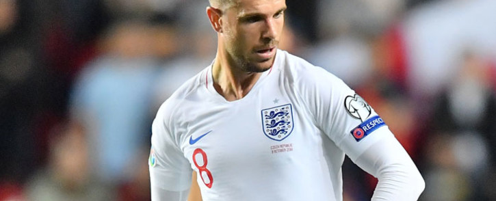 FILE: England's midfielder Jordan Henderson plays a ball during the UEFA Euro 2020 qualifier Group A football match Czech Republic v England at the Sinobo Arena on 11 October 2019. Picture: AFP