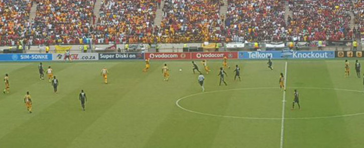 It took the lottery of a penalty shootout to decide the winner in the Telkom Knockout semifinal Kaizer Chiefs & Orlando Pirates. Picture: Morena Mothupi/EWN.