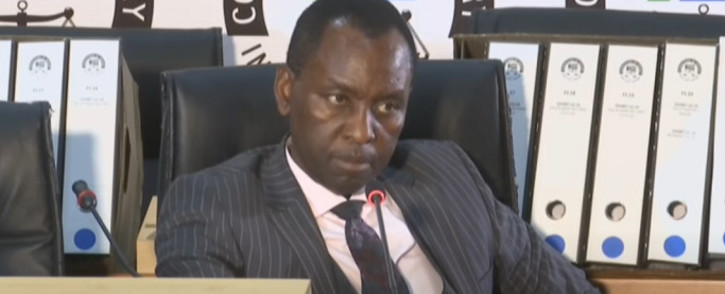 A screengrab of former Cabinet minister and former Free State housing MEC Mosebenzi Zwane appearing at the state capture inquiry in Johannesburg on 12 October 2020. Picture: SABC/YouTube