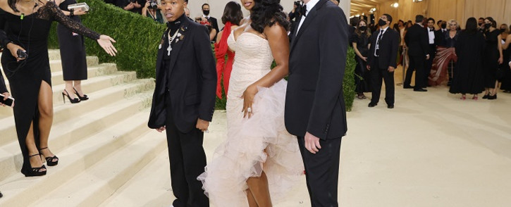 Lil Baby, Megan Thee Stallion, and Stuart Vevers attend The 2021 Met Gala Celebrating In America: A Lexicon Of Fashion at Metropolitan Museum of Art on September 13, 2021 in New York City. Picture: Mike Coppola/Getty Images/AFP