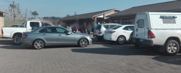 The scene at Masuku primary School in Folweni, KZN, where a teacher was shot dead on 11 June 2019. Picture: @Netcare911_sa/Twitter.