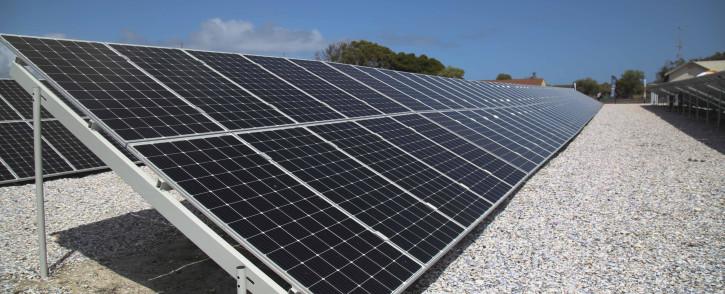 FILE: A solar PV farm on Robben Island. Picture: Cindy Archillies/EWN
