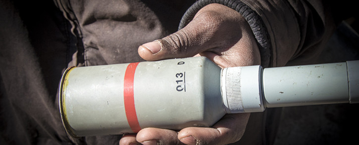 FILE: A tear gas canister. Picture: Thomas Holder/EWN