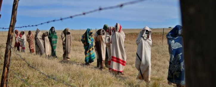 FILE: Boys who have undergone a circumcision ceremony walk near Qunu in the Eastern Cape in 2013. Picture: AFP