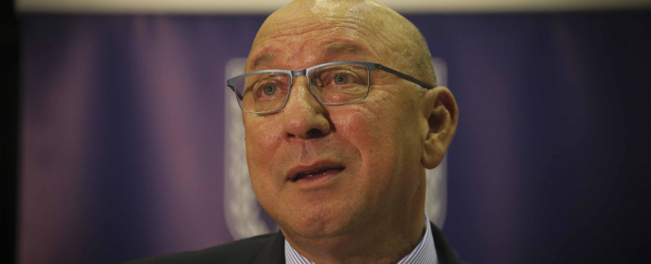 FILE: Trevor Manuel delivering the keynote address at the Archbishop Thabo Makgoba Trust Public Lecture hosted by the University of the Western Cape on 16 May 2018. Picture: Cindy Archillies/EWN.