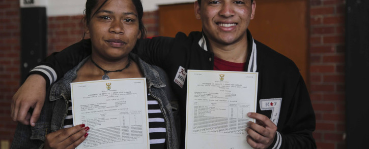 FILE: Two Matriculants from Modderdam High School in Bonteheuwel. Picture: Cindy Archillies/EWN.