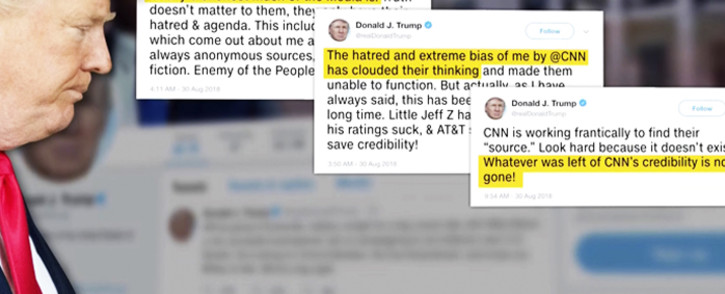 Biographers say Trump's latest tweets could show a man who is starting to feel backed into a corner. Picture: CNN