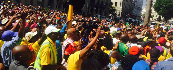 FILE: Ses'khona protesters in Cape Town CBD on 26 March 2015. Picture: Siyabonga Sesant/EWN.
