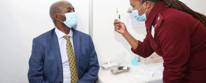 Director General for Basic Education in KwaZulu-Natal Mathanzima Mweli got vaccinated on 23 June 2021 at the Royal Showgrounds in Pietermaritzburg. Picture: KZN Gov.