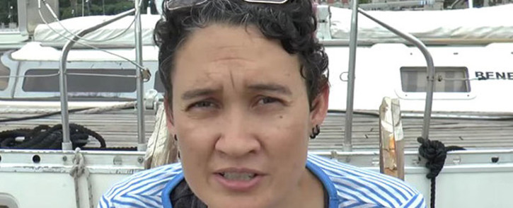 A YouTube screengrab shows Leigh-Ann Naidoo, a volleyball champion and human rights activist.
