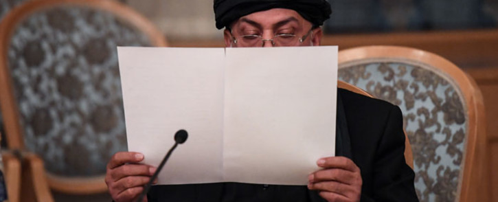 FILE: A representatives of the Taliban attends international talks on Afghanistan in Moscow on 9 November 2018. Picture: AFP