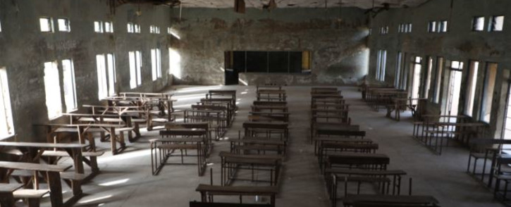 Empty classroom of the Government Science College where gunmen kidnapped dozens of students and staff members, in Kagara, Rafi Local Government Niger State, Nigeria, on 18 February 2021. Picture: Kola Sulaimon/AFP