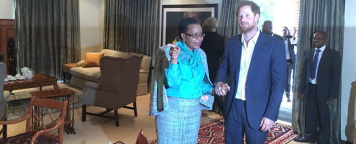 Prince Harry met Graca Machel on 03 December, 2015. Picture: Mia Lindeque/EWN.