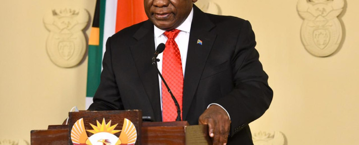 President Cyril Ramaphosa at the Union Buildings on 15 August 2020. Picture: GCIS