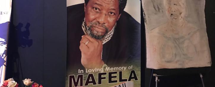 Joseph Dau Mafela's memorial service at the Johannesburg Theatre. Picture: Kgothatso Mogale/EWN.