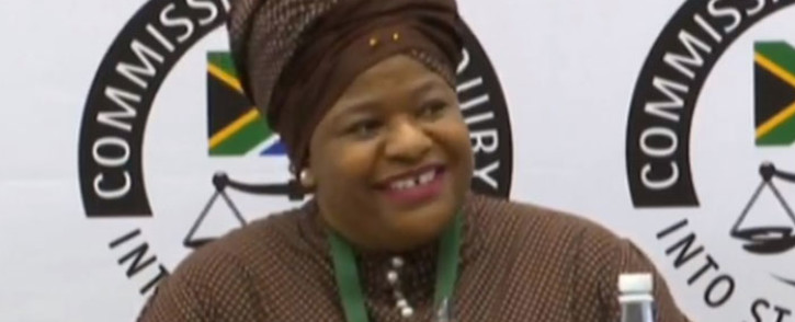 A screengrab of former Head of Department: Procurement at South African Airways (SAA) Technical Nontsasa Memela at the state capture inquiry on 10 February 2020.
