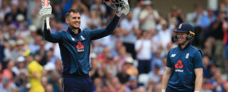 FILE: England's Alex Hales celebrates scoring a century against Australia at Trent Bridge on 19 June 2018. Picture: AFP
