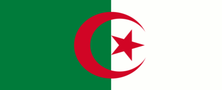 The Algerian flag. Picture: Supplied