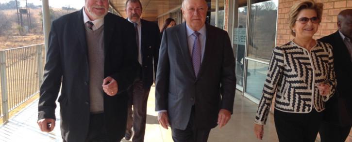 FILE. Former president FW De Klerk arriving at Sterkfontein caves on 29 July 2014. Picture: EWN.